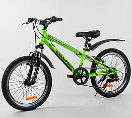 Велосипед Спортивный с 20 дюймовыми колесами, Shinemax 7 скоростей, металлическая рама, Corso Pulsar 80939