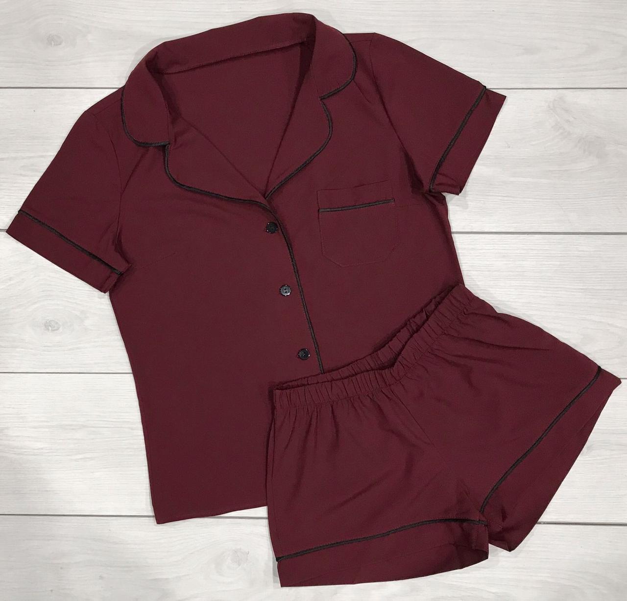 Пижама рубашка и шорты женские.
