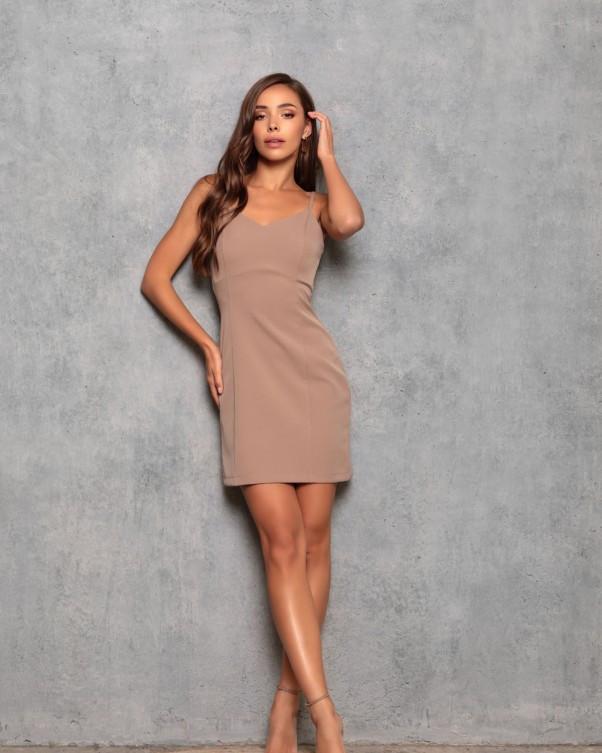 Сукні ISSA PLUS 12764 S коричневий XL