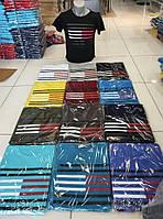 Чоловіча трикотажна футболка Смужка розмір норма 46-52, колір уточнюйте при замовленні