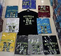 Чоловіча трикотажна футболка NYC/BRKLN розмір норма 46-52, колір уточнюйте при замовленні