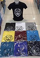 Чоловіча трикотажна футболка Лев розмір норма 46-52, колір уточнюйте при замовленні