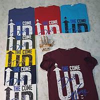 Чоловіча трикотажна футболка UP розмір норма 46-52, колір уточнюйте при замовленні