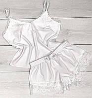 Белая пижама с кружевом Комплект