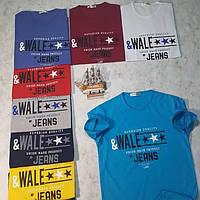Чоловіча трикотажна футболка Wale Jeans розмір норма 46-52, колір уточнюйте при замовленні