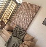 Самоклеюча 3D панель, декоративні стінові 3Д панелі під цеглу Червону Катеринославську, фото 3