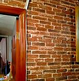 Самоклеюча 3D панель, декоративні стінові 3Д панелі під цеглу Червону Катеринославську, фото 7