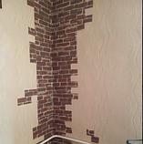 Самоклеюча 3D панель, декоративні стінові 3Д панелі під цеглу Червону Катеринославську, фото 9