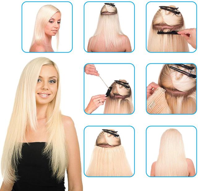 искусственные волосы на заколках купить недорого