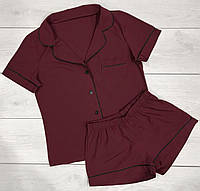 Стильный пижамный костюм Рубашка с коротким рукавом и шорты