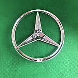 Эмблема на багажник Мерседес / Mercedes логотип значок 85 мм  3 пина, фото 2