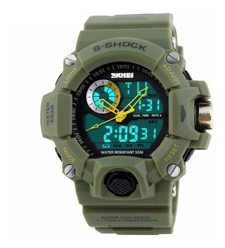 Skmei 1053 зелені чоловічі спортивні годинник