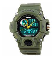 Skmei 1053 зелені чоловічі спортивні годинник, фото 1