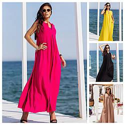 Р 44-50 Літній довга сукня вільного крою 24055