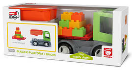 Вантажівка з платформою і кубиками EFKO MultiGO 1+2
