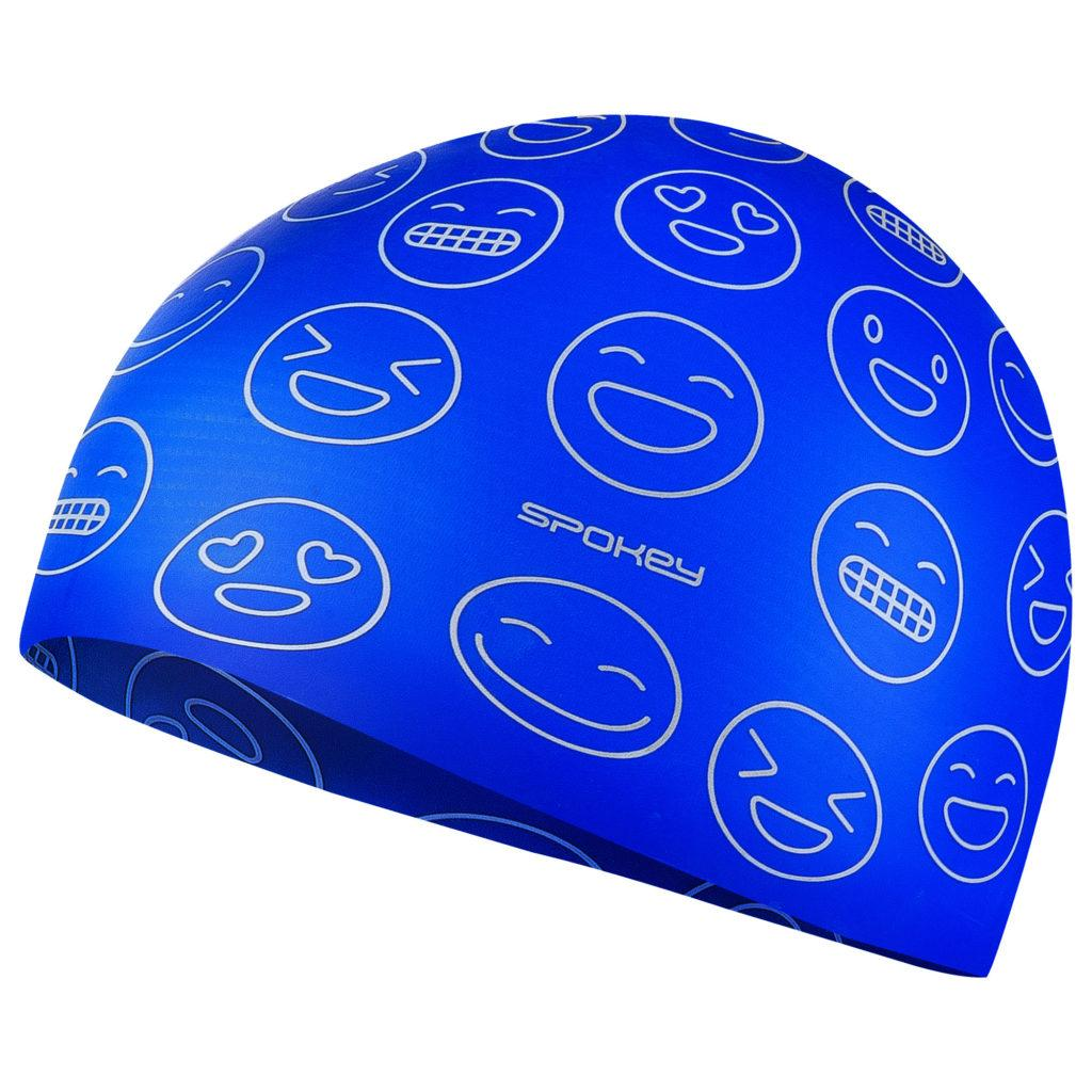 Шапочка для плавания детская Spokey Emoji 927909 (original) Польша, для бассейна, силикон