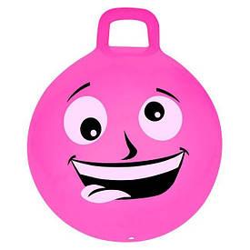 М'яч-стрибун дитячий з ручкою Spokey Emoti1 45см 925484, дитячий фітбол, гімнастичний м'яч для фітнесу