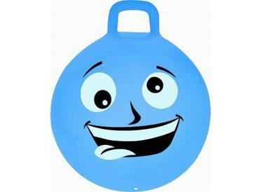 М'яч-стрибун дитячий з ручкою Spokey Emoti2 45см 925486, дитячий фітбол, гімнастичний м'яч для фітнесу мова