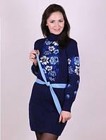 Платье зимние вязаное - рябина
