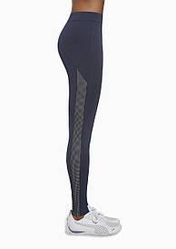 Спортивные женские легинсы BasBlack Imagin blue (original), лосины для бега, фитнеса, спортзала