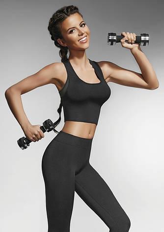 Спортивный женский топ BasBlack Teamtop 30 (original) короткий, майка для бега, фитнеса, спортзала, фото 2