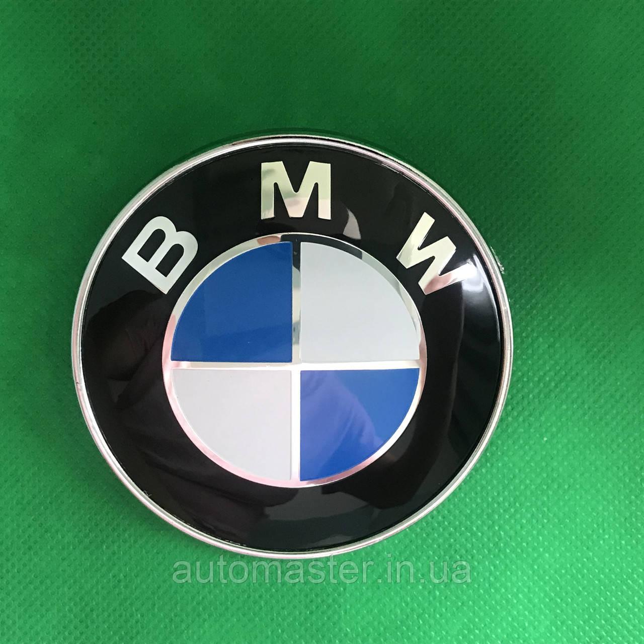 Эмблема значок логотип на капот багажник BMW / БМВ ,51-148132375, 78 мм