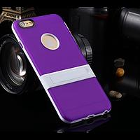 """Cиликоновый чехол c подставкой для iPhone 6 plus (5.5 """") + пленка!"""