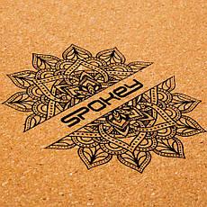 Блок для йоги Spokey Nidra 926634 (original) пробковый, йога-блок, кирпич для йоги, фото 2