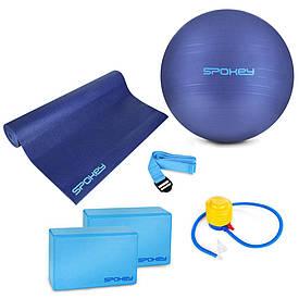 Набір для йоги Spokey Asteya 928925 (original) фітбол, килимок для йоги, блоки для йоги, ремінь для йоги