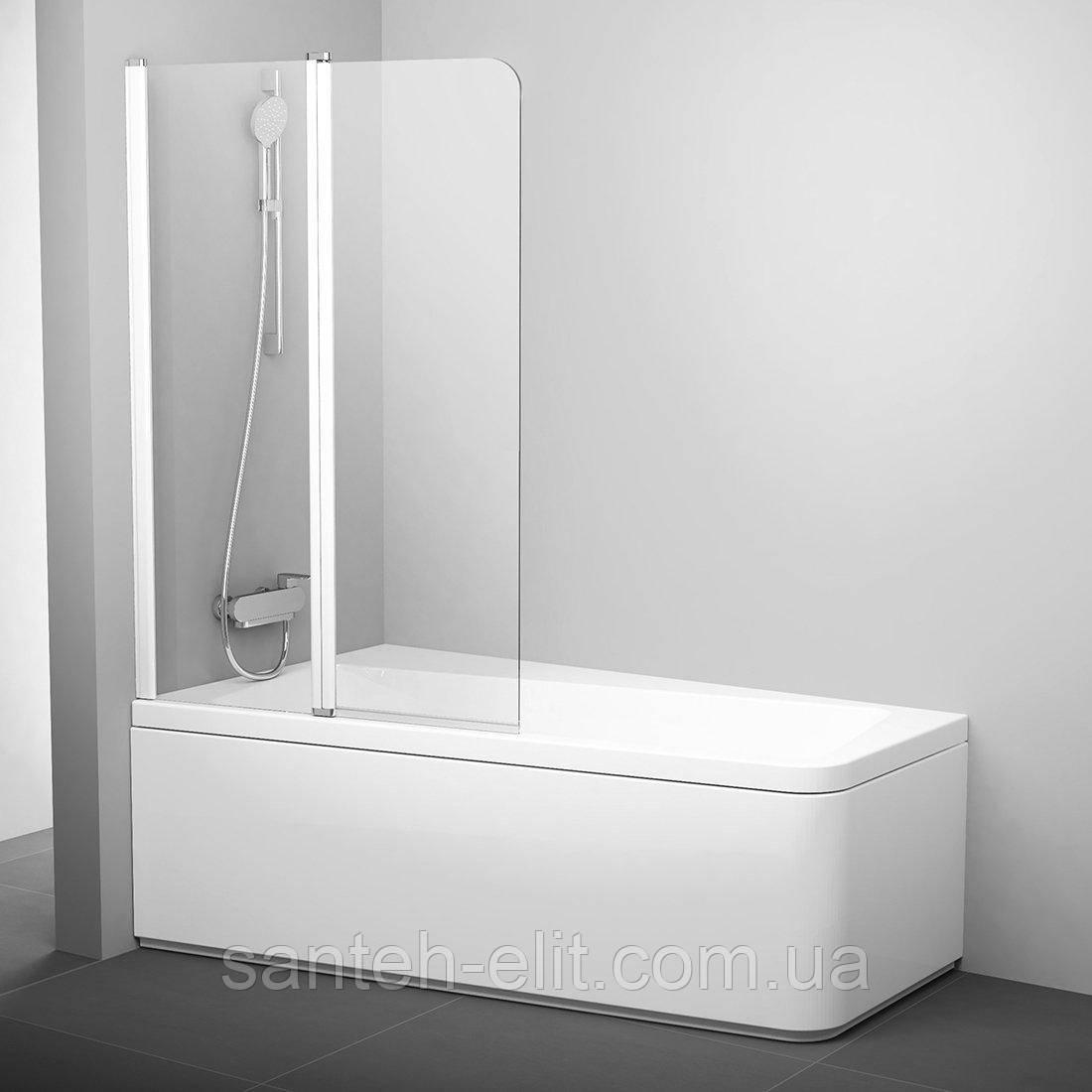 Шторка для ванны Ravak 10 CVS2-100 L белый transparent (7QLA0103Z1)