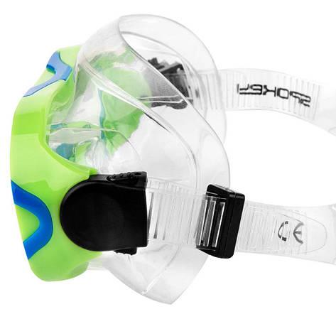 Маска для плавания детская Spokey Eli 928109 (original), маска для ныряния, очки-маска, фото 2