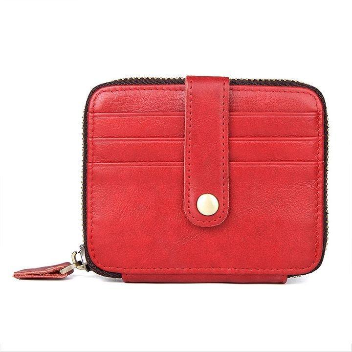 Візитниця Vintage 14959 Червона шкіряна