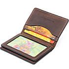 Візитниця з обкладинкою для ID-паспорта з натуральної шкіри GRANDE PELLE 11292 Коричнева, фото 4