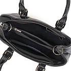 Классическая женская сумка в коже флотар Vintage 14861 Черная, фото 7