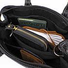 Классическая женская сумка в коже флотар Vintage 14861 Черная, фото 8