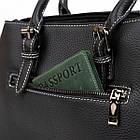 Классическая женская сумка в коже флотар Vintage 14861 Черная, фото 10