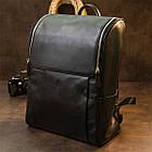 Рюкзак Vintage 14523 кожаный Черный, фото 6