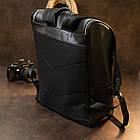 Рюкзак Vintage 14523 кожаный Черный, фото 7