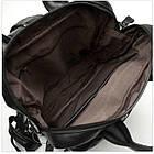 Сумка-рюкзак 2 в 1 мужская кожаная вертикальная с хлястиком Vintage 14790 Черная, фото 4
