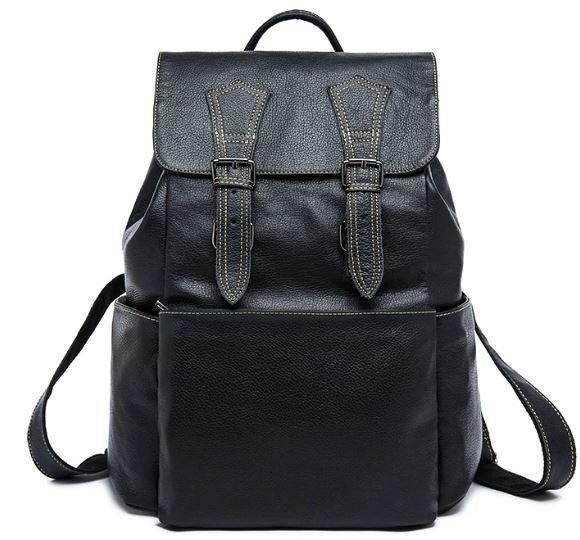 Рюкзак Vintage 14842 шкіряний Чорний