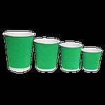 Гофровані склянки RIPPLE зелений