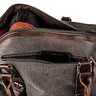 Дорожная сумка текстильная Vintage 20169 Серая, фото 3