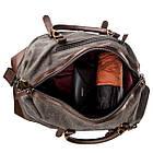 Дорожная сумка текстильная Vintage 20169 Серая, фото 4