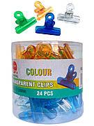 Зажим - прищепка для создания арки ногтя, пластиковый -38мм.  (24 шт.упаковка)