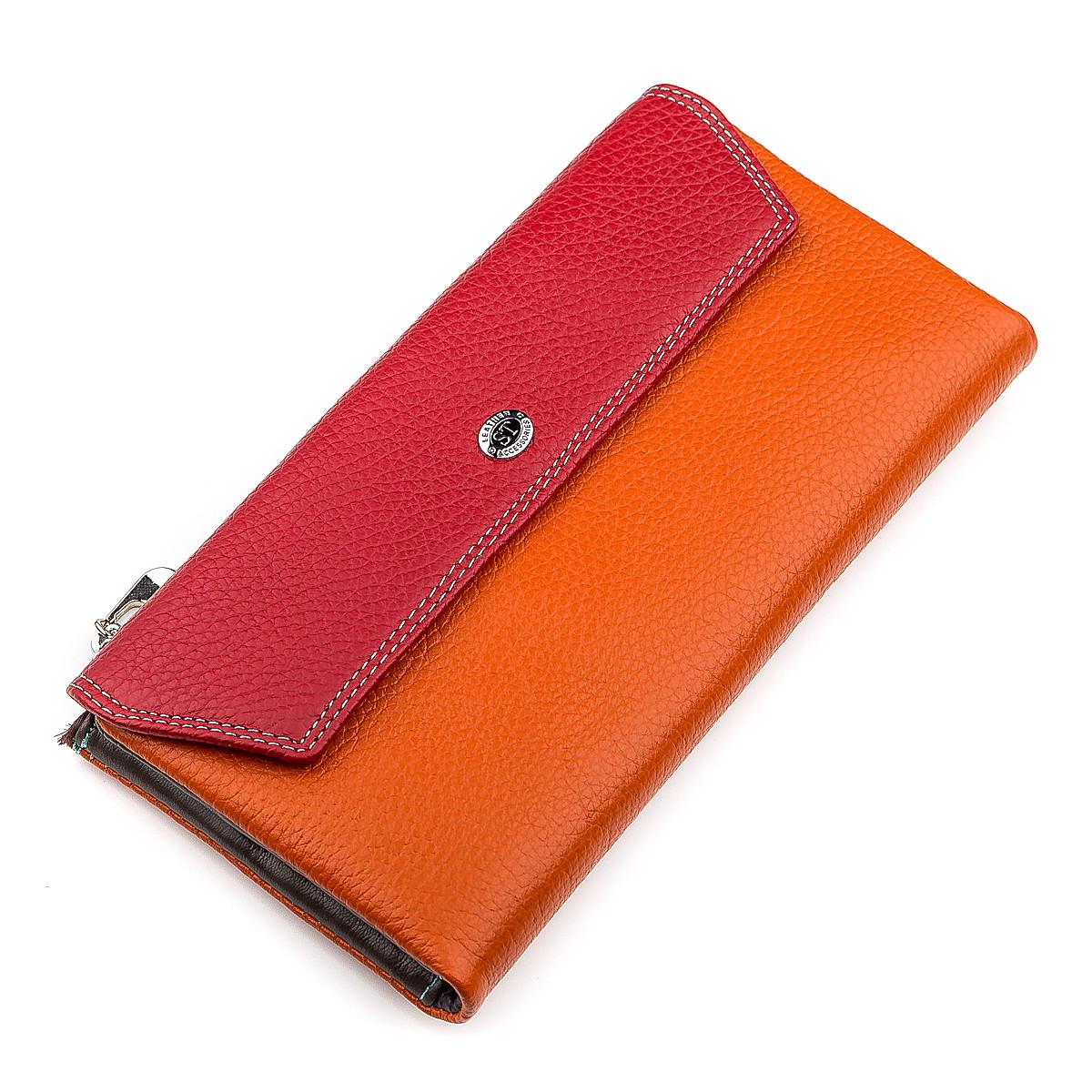 Кошелек женский ST Leather 18406 (SB42-2) многофункциональный Красный