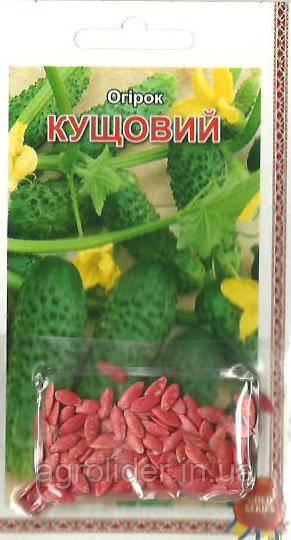 Семена огурец Кустовой (инкр) 3г Зеленый (Малахiт Подiлля)