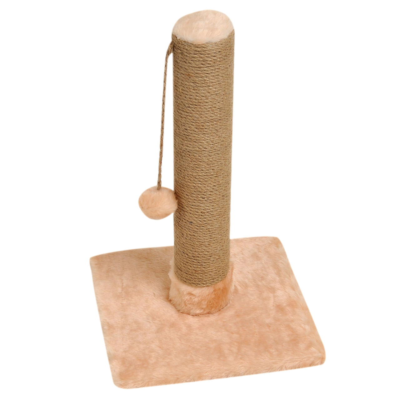 Когтеточка-столбик 33х33х50 см (дряпка) для кошки Бежевый