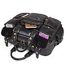 Багатофункціональна сумка з натуральної шкіри Vintage 14204 Чорна, фото 8