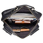 Багатофункціональна сумка з натуральної шкіри Vintage 14204 Чорна, фото 9
