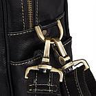 Багатофункціональна сумка з натуральної шкіри Vintage 14204 Чорна, фото 10